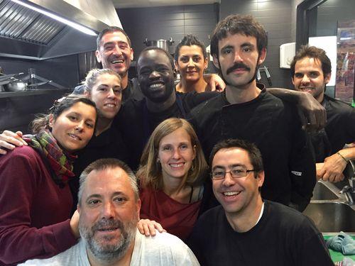 El equipo del restaurante El Brote al completo