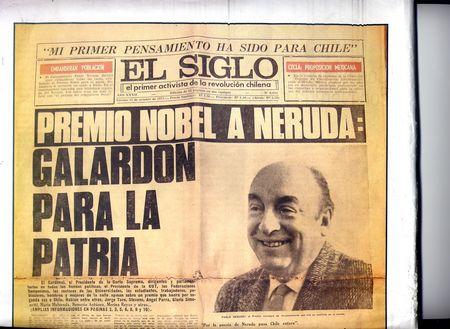 Neruda Premio Nobel-Diario EL SIGLO (PC chileno)