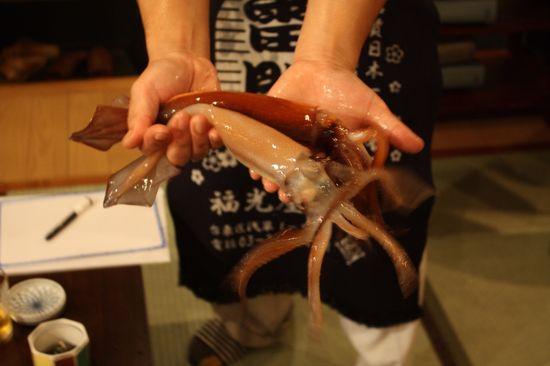 Calamares vivos en un restaurante de Tokio Isidoro Merino
