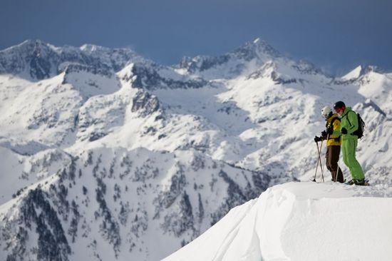 Esquiadores en la estación de Baqueira Beret