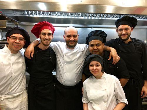 Raúl Resino y su equipo