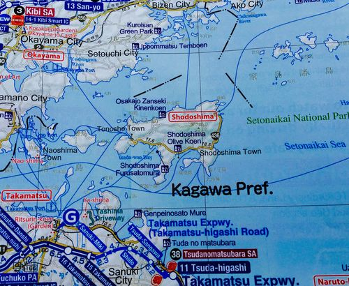 ISLA DE SHODOSHIMA COMUNICADA POR FERRY CON LA CAPITAL TAKAMATSU, EN LA PREFECTURA DE KAGAWA