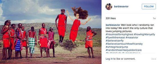 Barbie savior jumping