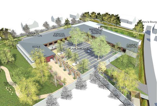 Plano de la MARPA escuela de Souvigny de Touraine
