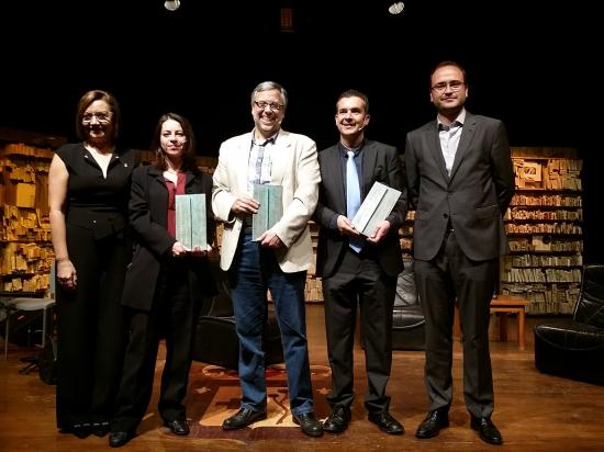 Premis Benicarló 2016, guanyadors. Al centre, Joan Garí