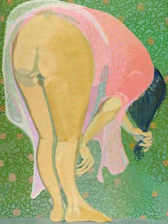 Cultivadora de flors. Oli sobre tela 130 x 97 cm