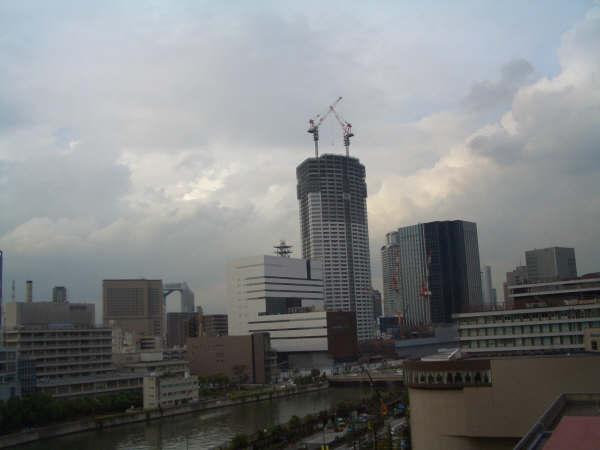 La vista de Osaka desde mi habitación