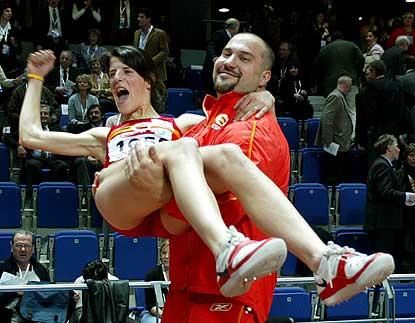 Ruth y yo en el Europeo de Madrid 2005 depues de ganar ambos un medalla